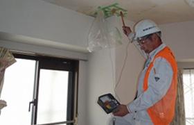 電気抵抗を利用した漏水調査